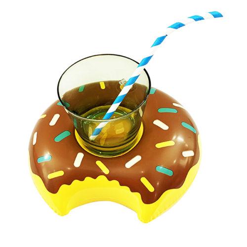 Подставка надувная Пончик шоколадный 20 см