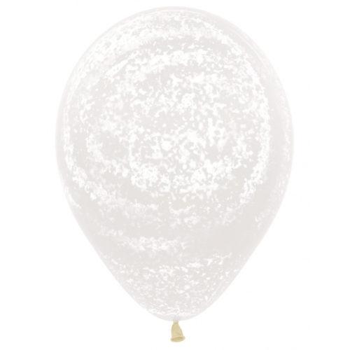 Шар 30 см Граффити Ледяной узор Прозрачный Кристалл