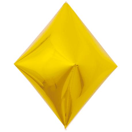 Шар 3D 53 см Ромб Золото