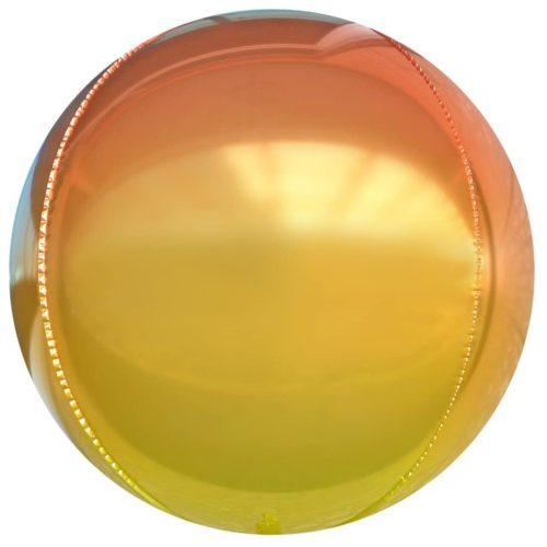 Шар 61 см Сфера 3D Оранжевый Градиент