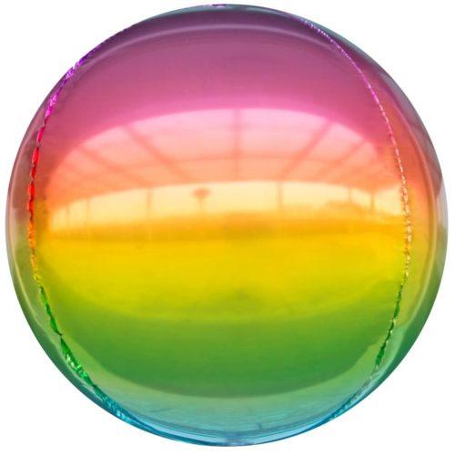 Шар 61 см Сфера 3D Радужный Градиент