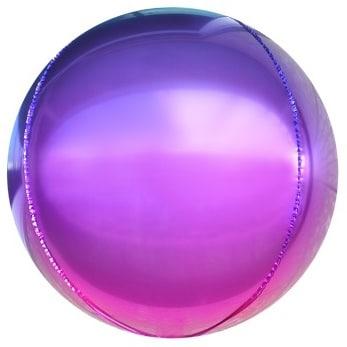 Шар 61 см Сфера 3D Фиолетовый Фуше Градиент