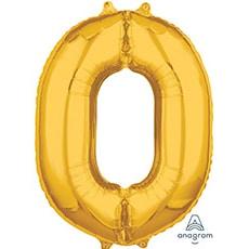 Шар 66 см Цифра 0 Золото