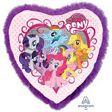 Шар 86 см Сердце My Little Pony Перья фиолетовый