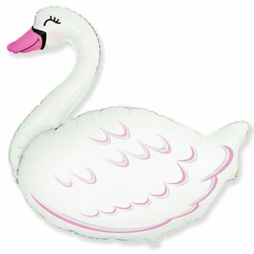 Шар 89 см Фигура Лебедь Белый