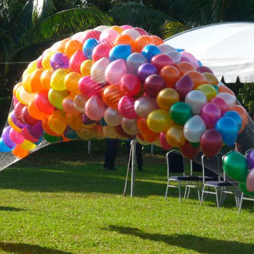 Запуск воздушных шаров день города 1000 штук