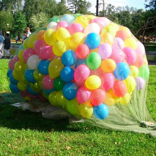 Запуск воздушных шаров 1 сентября 500 штук