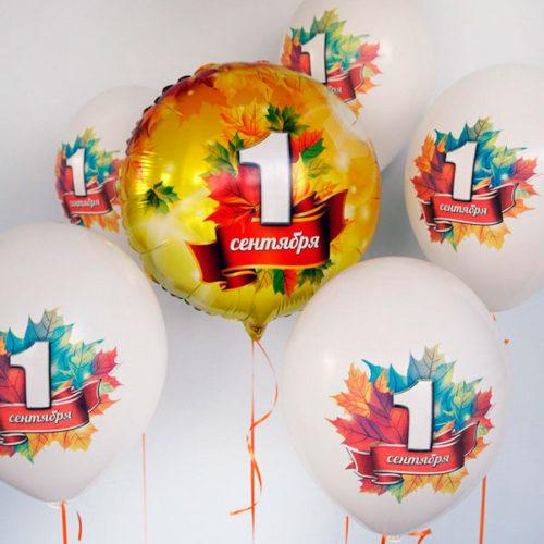 Комплеккт для фотосессии из воздушных шаров на 1 сентября Шары с грузиками