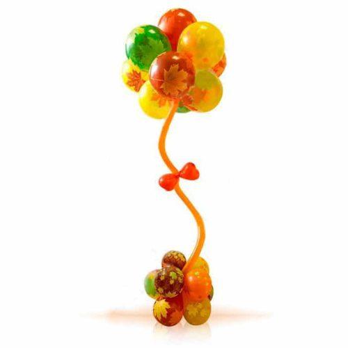 Стойка из воздушных шаров с Осенними листьями