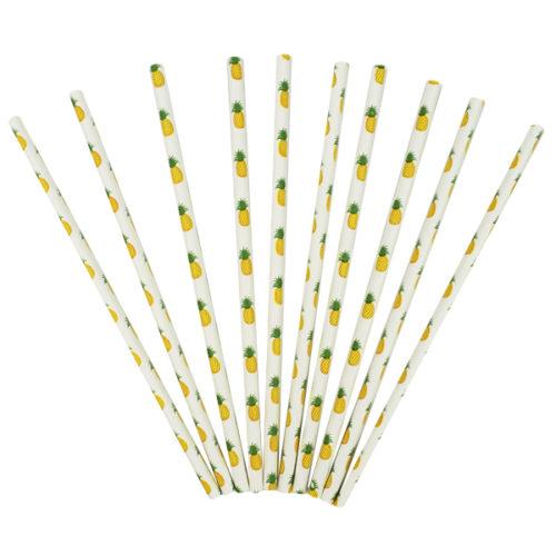 Трубочки для коктейля Ананас 12 штук