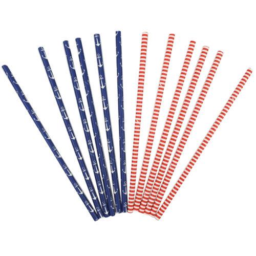 Трубочки для коктейля Морские 12 штук