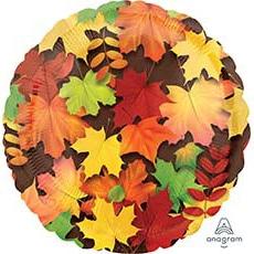 Шар 46 см Круг Листья осенние