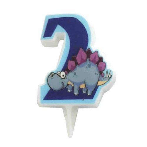 Свечи цифры для торта 2 Динозавр 5 см