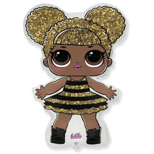 Шар 86 см Фигура Кукла ЛОЛ LOLСияющая Королева