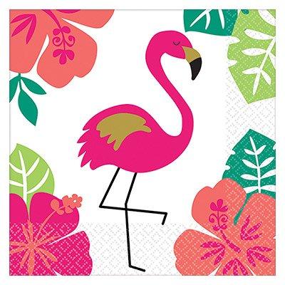 Салфетка 25 см ALOHA Фламинго 16 штук