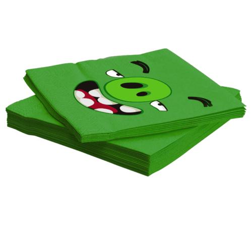 Салфетки 33 х 33 см Angry Birds Зеленый 20 штук