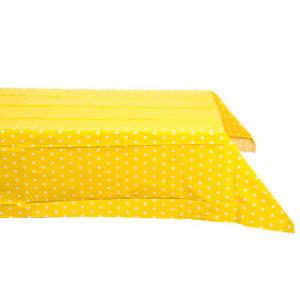 Скатерть п-э Горошек желтая 130 х 180 см