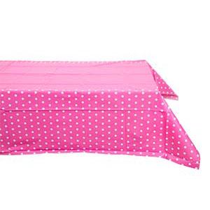 Скатерть п-э Горошек розовая 130 х 180 см