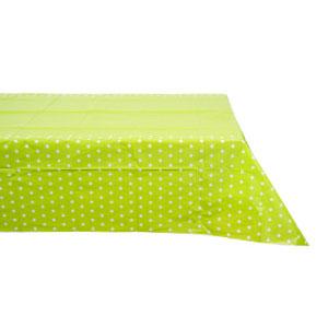 Скатерть п-э Горошек светло-зеленая 130 х 180 см