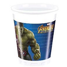 Стаканы пластик 200 мл Мстители Инфинити 8 штук