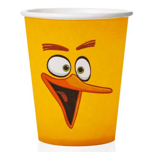 Стаканы 250 мл Angry Birds Желтый 6 штук