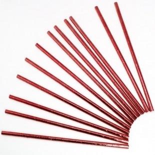 Трубочки для коктейлей Гранатовый металлик 12 штук
