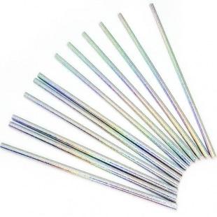 Трубочки для коктейлей Искрящееся серебро 12 штук