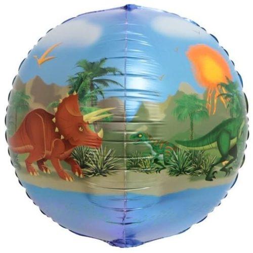 Шар 61 см Сфера 3D Веселые животные Динозавры