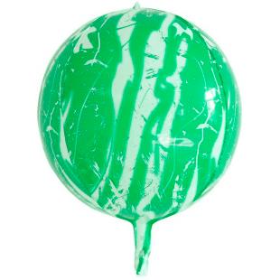 Шар 61 см Сфера 3D Мрамор Зеленый