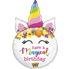 Шар 84 см Фигура HAVE MAGICAL BIRTHDAY Единорог