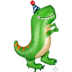 Шар 86 см Фигура Динозавр зеленый