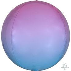 3D СФЕРА 41 см Омбре Красно-голубой