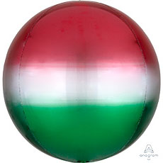 3D СФЕРА 41 см Омбре Красно-зеленый