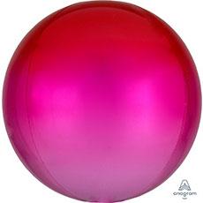 3D СФЕРА 41 см Омбре Красно-розовый
