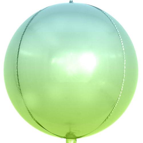 3D СФЕРА 61 см Светло-зеленый Голубой Градиент