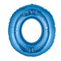 Шар 102 см Цифра 0 синий