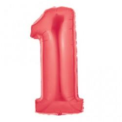Шар 102 см Цифра 1 Красный