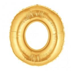 Шар 102 см Цифра 0 Золото