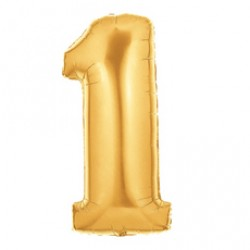 Шар 102 см Цифра 1 Золото