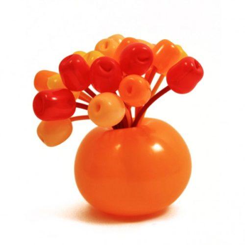 Букет цветов в вазе оранжевый
