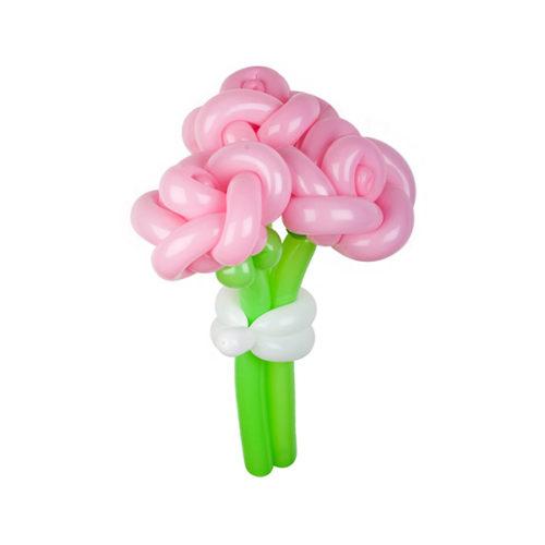 Букет из 3 розовых роз из воздушных шаров