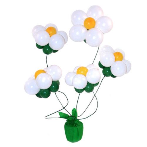 Букет из 5 белых цветов