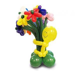 Букет из 15 разноцветных цветов от смайлика