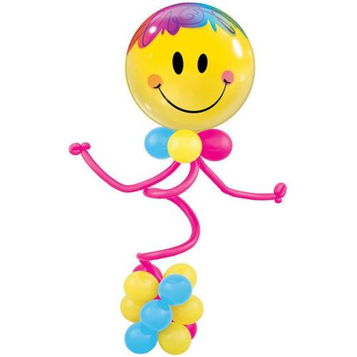 Смайлик на стойке из воздушных шаров