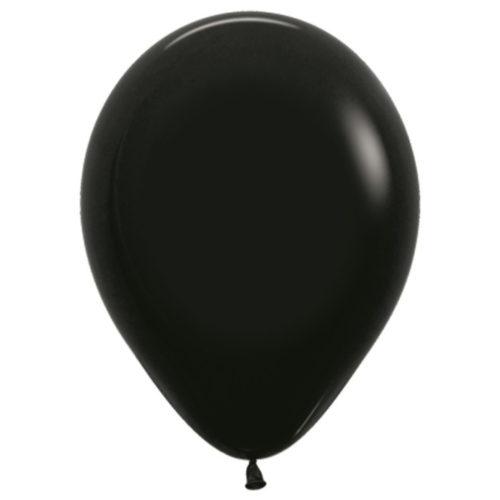 Шар 30 см пастель Черный 080