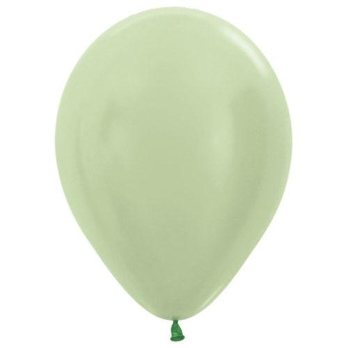Шар 30 см перламутр Светло-зеленый 430