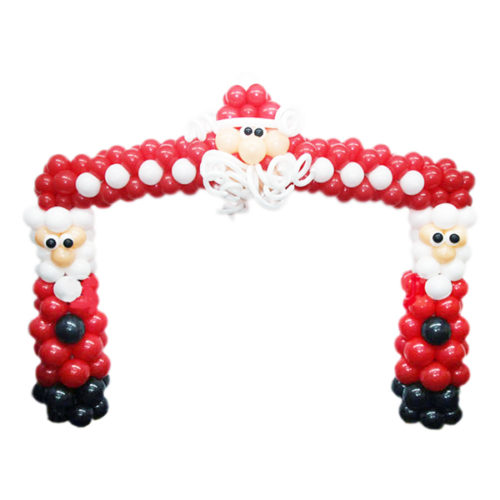 """""""Дедоморозовая"""" арка из воздушных шаров"""