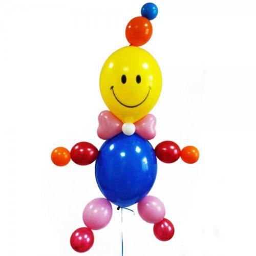 Смайлик в синей одежке из воздушных шаров