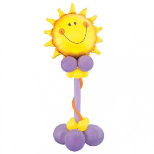 Улыбающееся солнышко из воздушных шаров