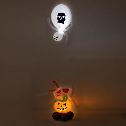 Светящаяся тыква с пауком-убийцей из воздушных шаров